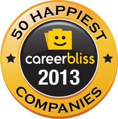 CareerBliss has revealed the top happiest companies in 2013. They analyzed thousands of independent employee-submitted reviews. The reviews ask professionals to rank how they feel about key happiness factors at work, such as the culture of the company, compensation and people you work with.