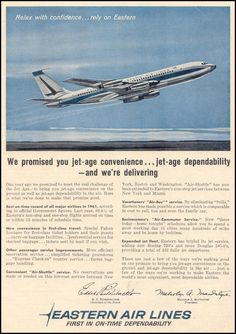 Eastern Airlines Ad in Time Magazine    02/23/1962