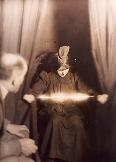 Mediumship was widespread in the late 1800s/early1900s. Spirit photography was thought to prove the scientific veracity of spiritualism belief.