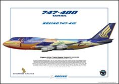 Singapore Airlines B747-400 Tropical Megatop Livery