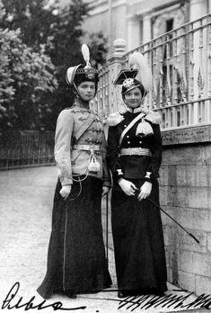 Olga and Tatiana Romanov Rare Photographs of Celebrities.