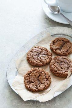 Ginger Molasses Cookies (Gluten Free, Paleo Friendly) from gourmandeinthekitchen.com