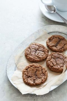 Ginger Molasses Cookies (Gluten Free, Paleo Friendly) from gourmandeinthekitchen.com
