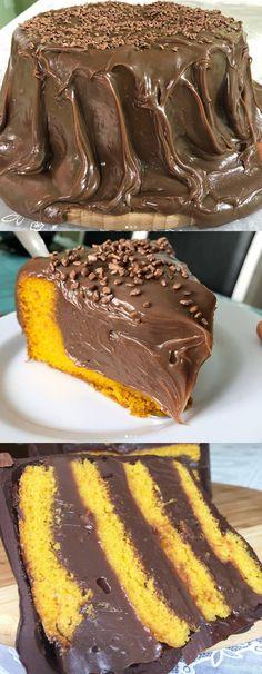 Marque um amigo que vai fazer um bolo de cenoura pra você 👇🏻😧  #bolo #bolodecenoura#byigorhealthy Pastry Cake, How Sweet Eats, Love Food, Sweet Recipes, Muffins, Sweet Treats, Food Porn, Food And Drink, Cooking Recipes
