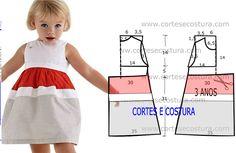 A pedido de algumas seguidoras hoje vou publicar este molde de vestido infantil…