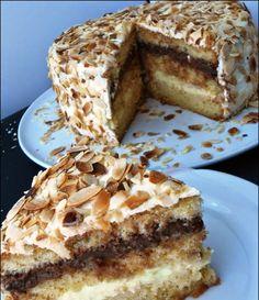 τουρταΕλπιδα Greek Sweets, Greek Desserts, Party Desserts, Greek Recipes, Sweets Cake, Cupcake Cakes, Greek Cake, Greek Pastries, Cake Recipes