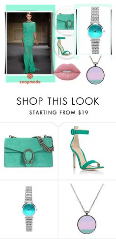 """""""Snapmade #8/2"""" by soofficial87 ❤ liked on Polyvore featuring Georges Hobeika, Gucci, Gianvito Rossi and Lime Crime"""