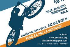 Marcha #MTB para pedalear por una buena causa, en Avila (España) donde tendremos dos recorridos (uno de 42km y otro de 20km) para adaptarnos a las capacidades de todos http://mtbplace.com/evento/i-circuito-dical-bike-trofeo-pronisa/