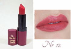 )- zdjęcia i opinia * Golden Rose Lipstick, Golden Rose Nail Polish, Golden Rose Cosmetics, Velvet Lipstick, Velvet Matte, Liquid Lipstick, Lipstick Colors, Lip Colors, Barbie