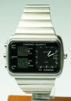 "Omega 1976 Montreal Olympic games ""Score Board"" chonograph. Quartz 1611 movement, also known as the ""Albatros"""