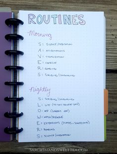Bullet Journal Routines More