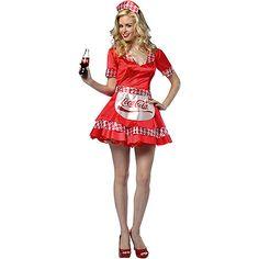 Coca-Cola Soda Girl Costume