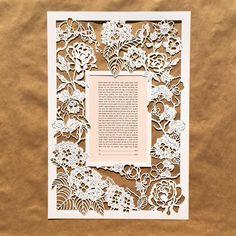 "83 Likes, 2 Comments - Naomi Shiek (@woodlandpapercuts) on Instagram: ""Last few days of the #shopsale !!! (Link in profile) 'Full Bloom' design #papercut #ketubah…"""