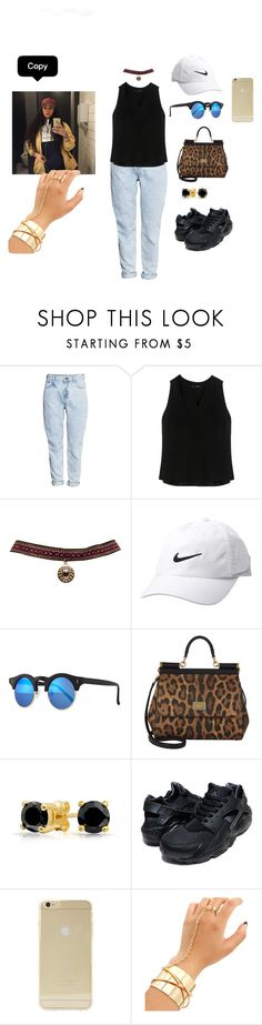 """""""tumblr cutie pies 💖😌😍"""" by pandatheod ❤ liked on Polyvore featuring H&M, Proenza Schouler, Wet Seal, Nike Golf, Illesteva, Dolce&Gabbana, Bling Jewelry, NIKE and Sonix"""