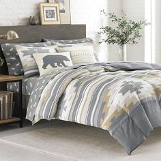 Fidalgo Comforter And Sham Set (Full/Queen) - Eddie Bauer, Gray King Size Comforter Sets, King Size Comforters, Best Bedding Sets, Bedding Sets Online, Luxury Bedding Sets, Eddie Bauer, Bed Sets, Cool Comforters, Home Goods Store