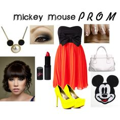 """""""Mickey Mouse: PROM"""" by lizzieannestedman on Polyvore"""