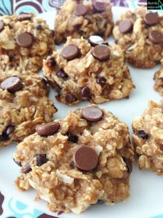 Healthy Peanut Butter Oatmeal Cookies (no flour, no sugar)