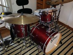 "My ""babies:"" GRETSCH Renown maple jazz kit <3"