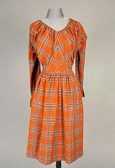 Claire McCardell Plaid Wool Dress,1940s
