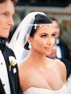Silver Cystal Head chain as seen on Kim Kardashian Wedding
