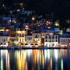 Γύθειο Λακωνίας!!!! Gythio by night Peloponnese Greece!!!
