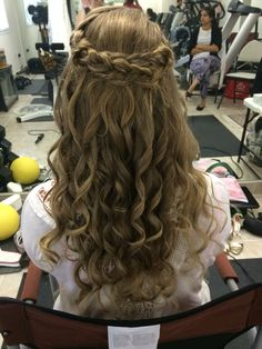 Half up long hair. Curls and braids. Half Up Long Hair, Braids For Long Hair, Braided Half Up, Bridal Hairstyle, Something Beautiful, Hair Designs, Braided Hairstyles, Curls, Hair Makeup