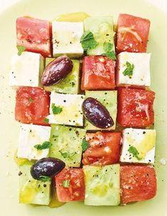Recettes grecques - Cuisine du monde - Elle à Table Tuna, Salads, Cheese, Fish, Meat, Cooking, Recipes, Difficult Children, Tomatoes
