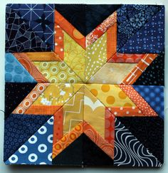 paper pieced star block -wombat quilts