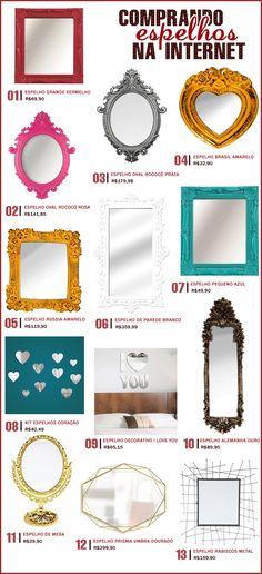Onde comprar: espelhos lindos e diferentes