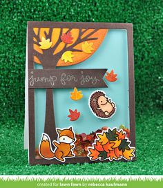A Jump for Joy Shaker Card by Rebecca!