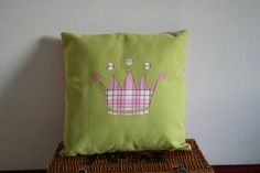 Pretty Handmade Princess Crown/ Tiara Tartan Cushion by RecyKilt, £25.00