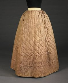 1840-55 Quilted Petticoat (Would love to make one for myself if I wasn't so lazy. All that quilting would take me years to accomplish.)