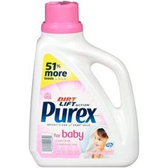 Purex Dirt Lift Action Liquid Laundry Detergent For Baby, 50 Loads, 75 Fl Oz Baby Laundry Detergent, Laundry Room, Skin Dermatologist, Hot, Skin So Soft, Spray Bottle, Sensitive Skin, Cleaning Supplies, Home
