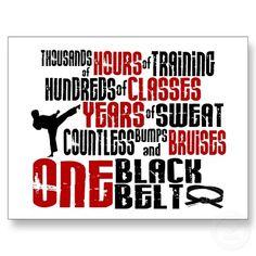 One Black Belt