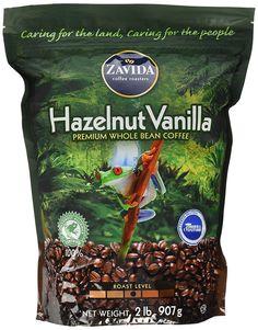 Zavida Hazelnut Vanilla Premium Whole Bean Coffee (2 lb) -- Additional details at the pin image, click it  : Fresh Groceries