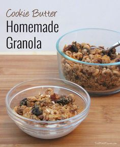 Cookie Butter Granola | Two More Minutes