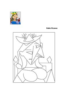 Teaching & learning resources for parents, children and teachers. Pablo Picasso, Kunst Picasso, Picasso Art, Picasso Drawing, Picasso Style, Spanish Art, Paul Klee, Art Template, Templates