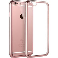 iPhone case,MINIMALISM(TM) [Twinkler Series] [Scratch Resistant] Premium Flexible Soft TPU Bumper Silicone Case with Electroplate Frame Fit for iPhone 6 & iPhone inches) - Rose Gold Iphone 7 Plus, Iphone 6 Plus Case, Iphone Phone Cases, Iphone 11, Coque Ipad, Coque Iphone 6, Rose Gold Accessories, Cell Phone Accessories, Tech Accessories