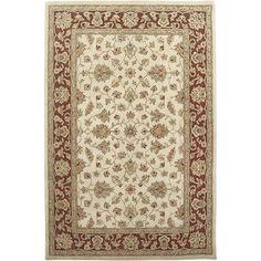 AMER Rugs Mosaic Ivory/Red Santa Maria Rug Rug Size: