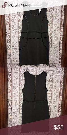 Grey Leather Detail Body-con dress Grey bodycon dress with pleather detail. So cute and sexy! Dresses Mini