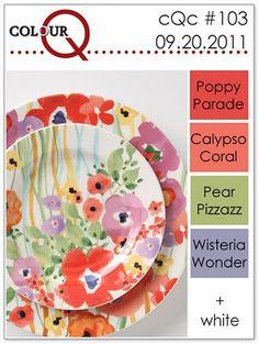 Calypso Coral, Pear Pizzazz, Poppy Parade, Wisteria Wonder