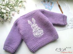 """Здравствуйте! Хочется показать Вам мою новую работу. Детский свитерок """"Sweet bunny"""" (переводится как Сладкий Зайка)."""
