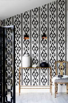 black + white ikat inspiration