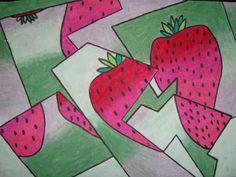 Fracture cubistes pastel d'huile Dessins   http://afaithfulattempt.blogspot.ca/2011/09/fractured-cubist-oil-pastel-drawings.html