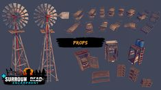 This pack expands our SurrounDead - Survival Game Assets with NEW base fortification related assets.