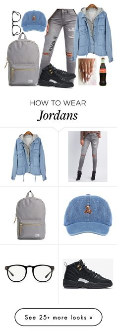 """Untitled #382"" by childish-tc on Polyvore featuring Herschel Supply Co., Refuge, Linda Farrow and NIKE"