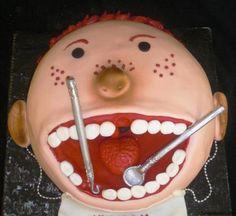 dentist themed cake