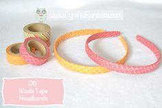 Washi Tape Headbands