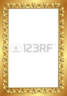 золотая рамка с прозрачной космической вставки