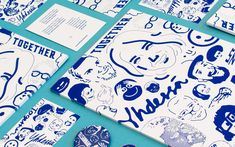 Love the strong colour and pattern in the branding for Finland designed by Kokoro & Moi . Finland's centenary celebration project i. Identity Design, Visual Identity, Brand Identity, Corporate Identity, Brand Guide, Happy Birthday, Kokoro, Graphic Illustration, Illustrations